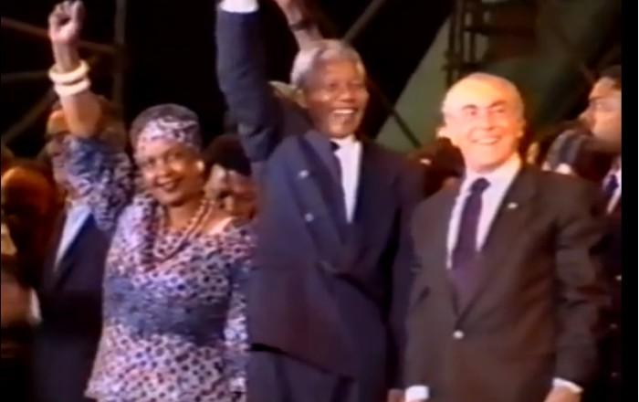 Leonel Brizola e Nelson Mandela