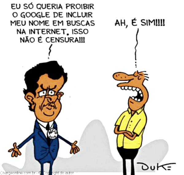 Charge Duke Aécio e Google