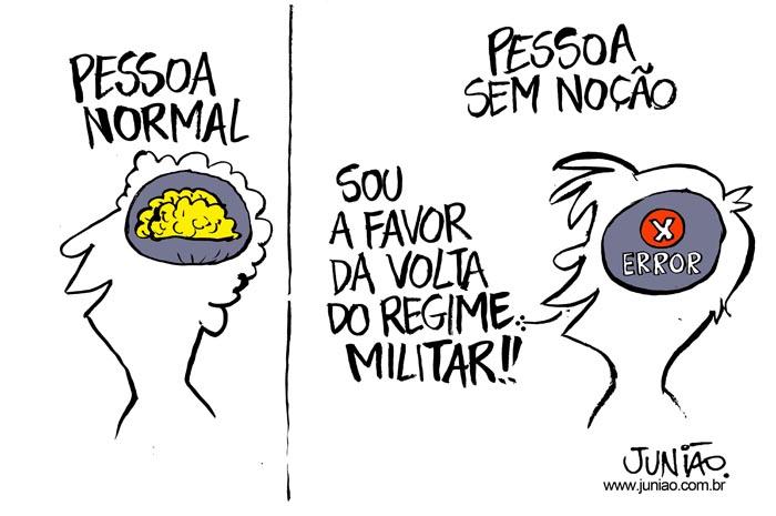 Charge Junião Ditadura Militar