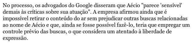 Print da matéria da Folha de S. Paulo