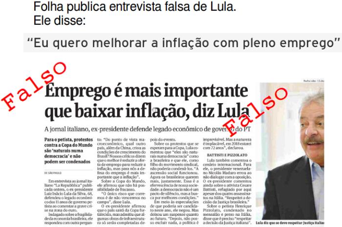 Entrevista falsa da Folha