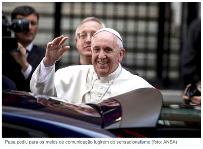 Papa Francisco critica a midia