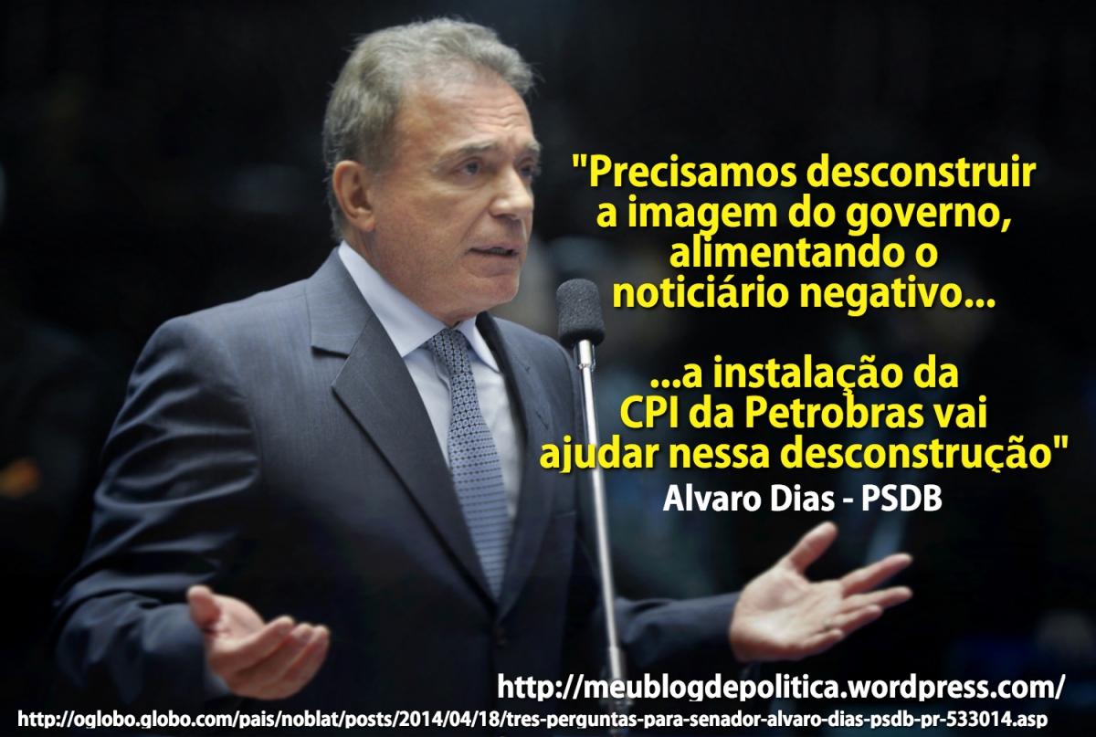 Alvaro Dias e as más notícias da imprensa