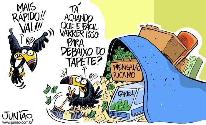 Resultado de imagem para charge corrupção tucano