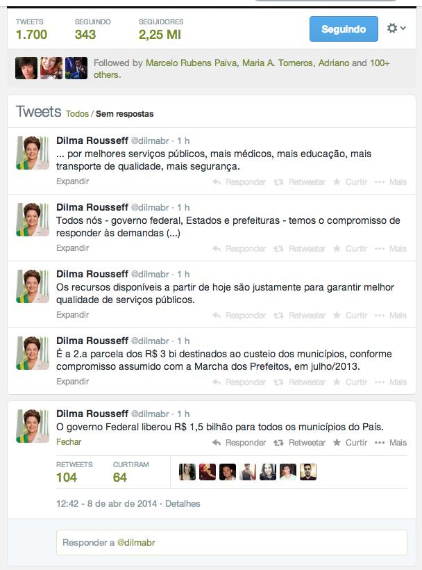 twitter Dilma