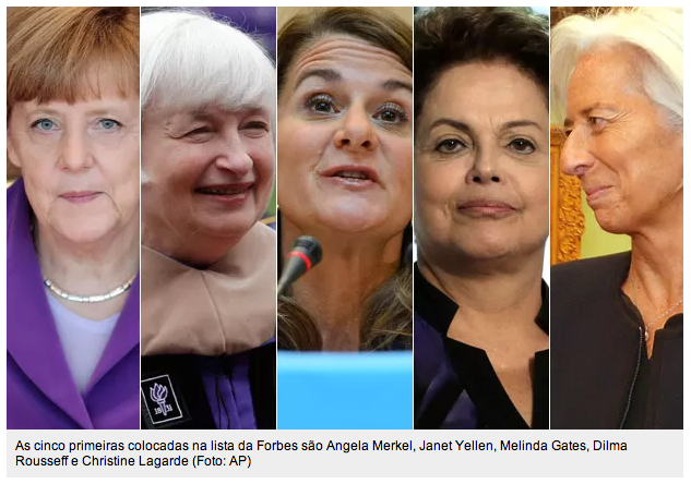 Dilma na lista da Forbes