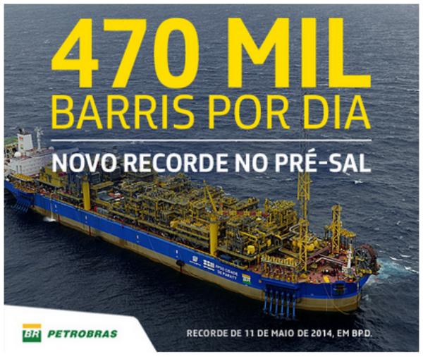 Petrobras bate recorde no Pré-sal