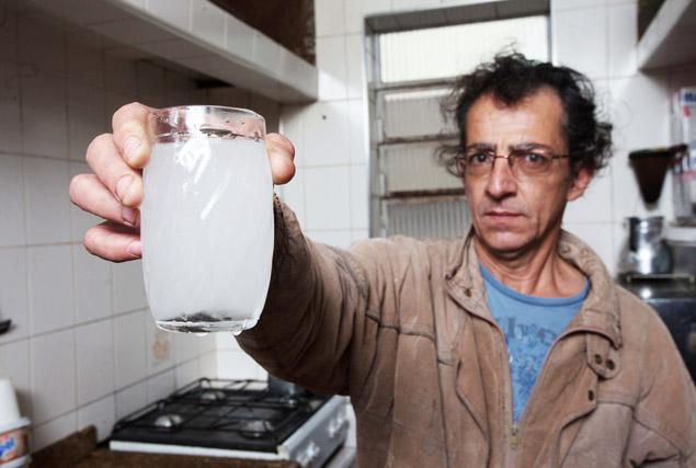 água do Volume morto que sai nas torneiras