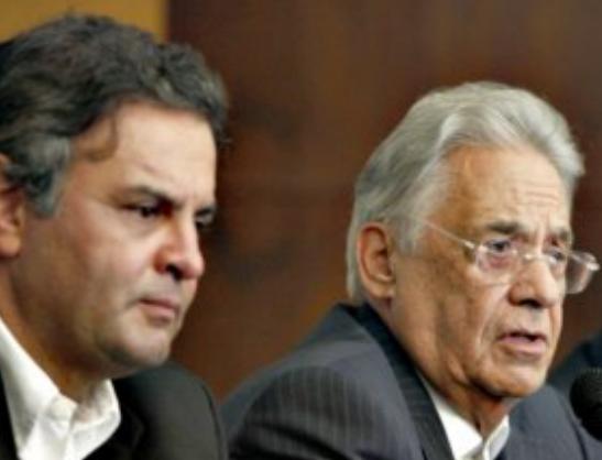 Aéco Neves e Fernando Henrique Cardoso