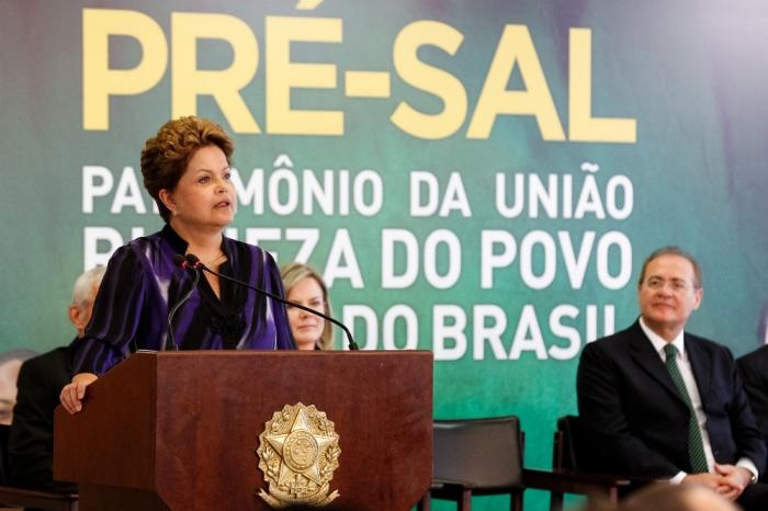 Dilma em cerimônia do Pré-sal