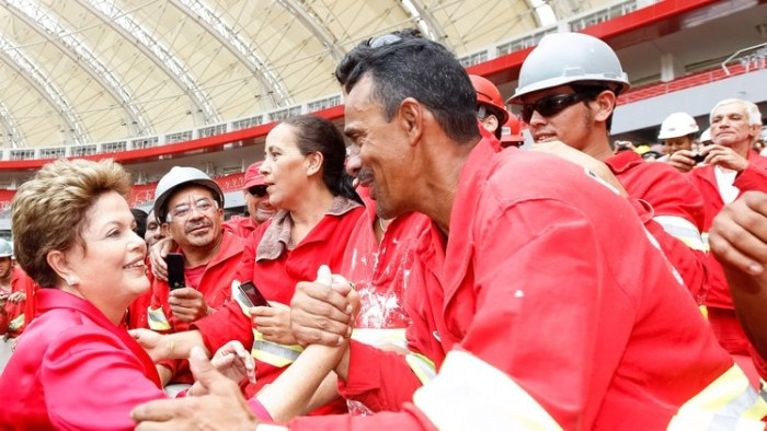 Dilma e trabalhadores