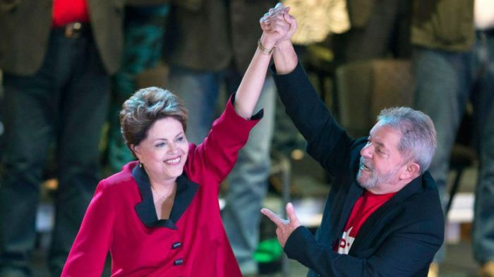 Dilma e Lula no lançamento oficial da candidatura para a reeleição