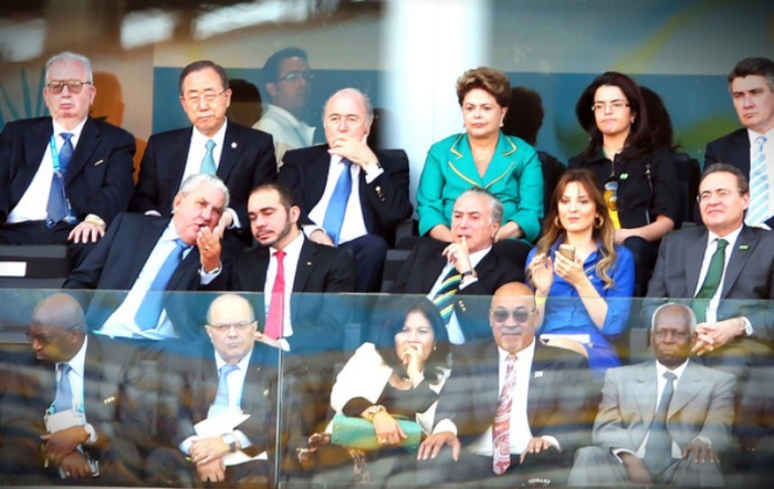 Presidente Dilma na abertura da Copa