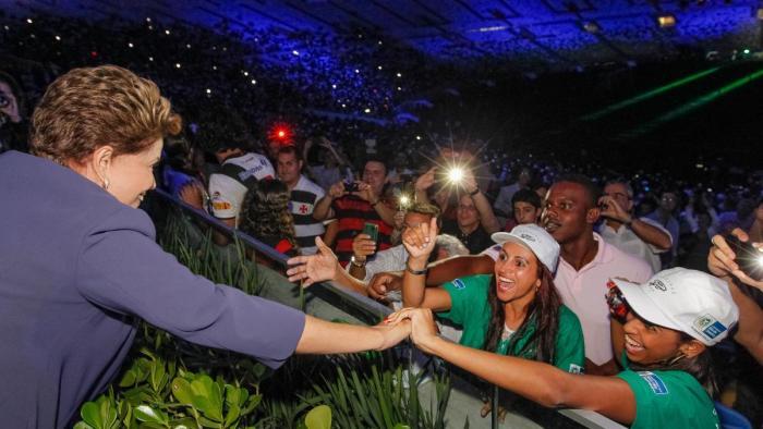 Dilma Vaiada pela área VIP
