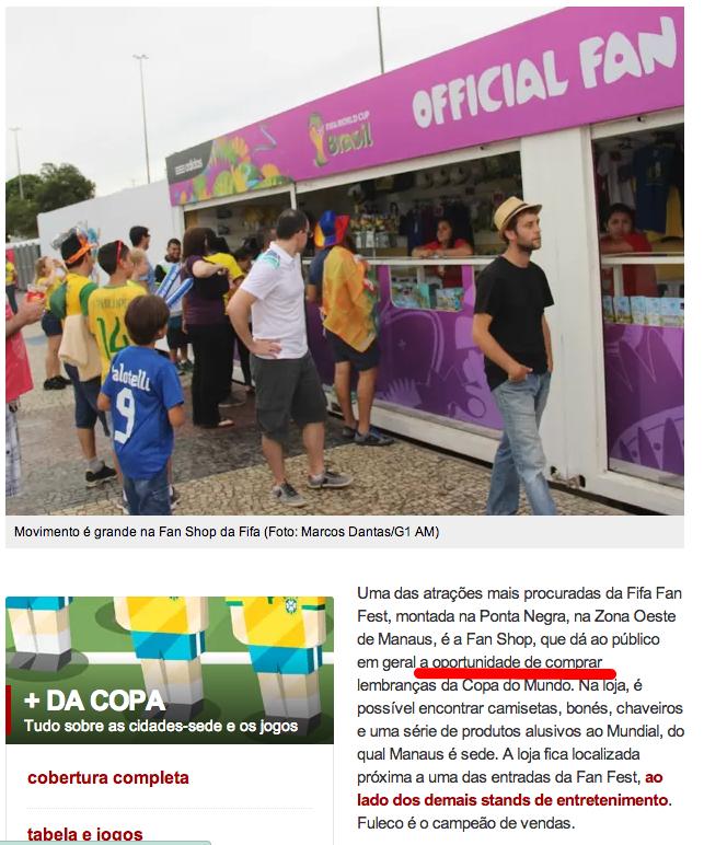 """Print do G1 - O Público tem a """"Oportunidade"""" de comprar..."""