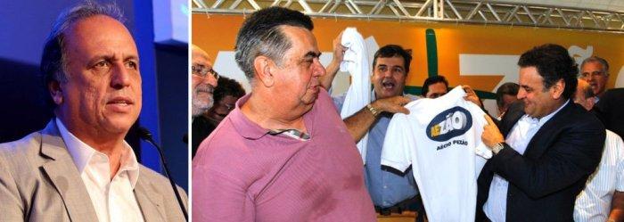 Aécio Neves recebe apoio do PMDB