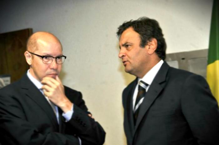 Aécio Neves do PSDB e Demóstenes Torres