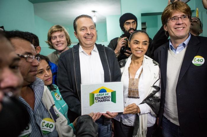 Eduardo Campos e Marina Silva inauguram a primeira Casa de Eduardo e Marina em Osasco na Grande São Paulo. FOTO: DIVULGAÇÃO PSB