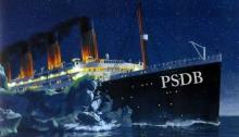 PSDB afunda como Titanic