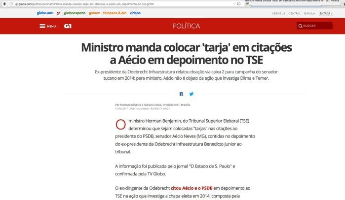Aécio Neves Tarja Preta