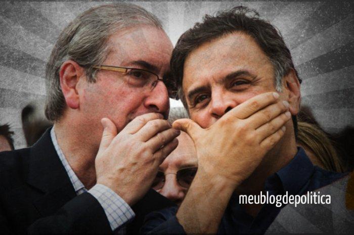 Eduardo Cunha e Aécio Neves